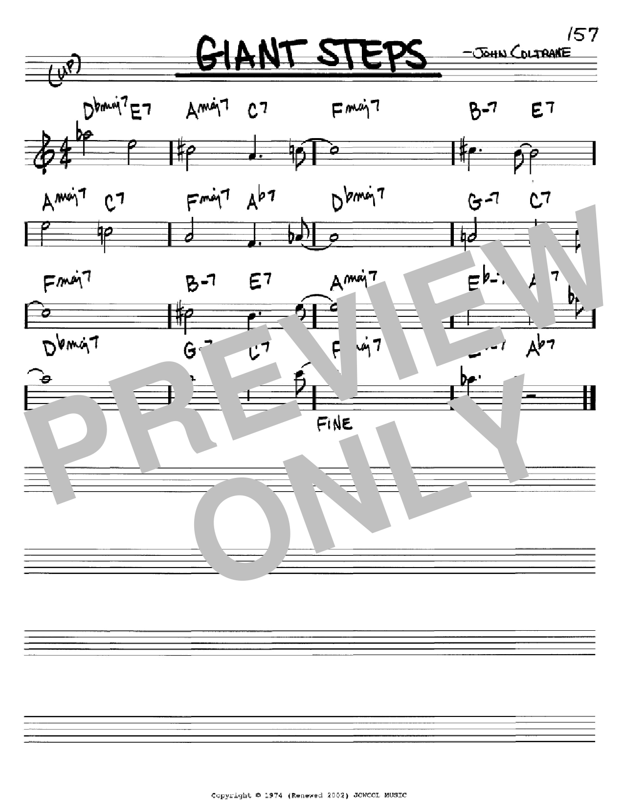 Giant Steps (Real Book – Melody & Chords – Bb Instruments)