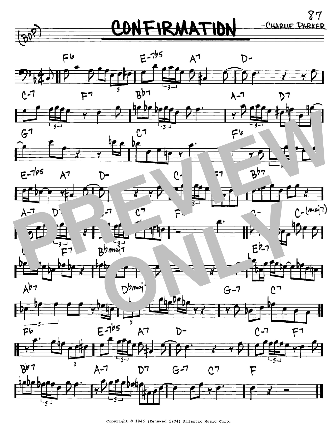 Confirmation Sheet Music