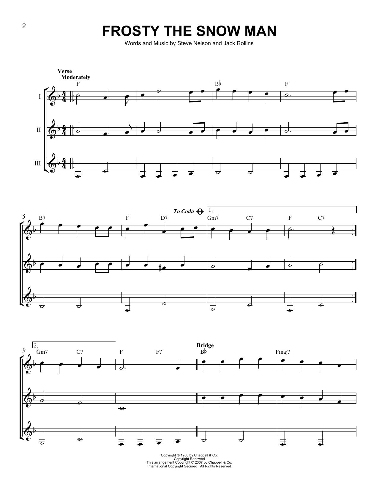 Frosty The Snowman Sheet Music