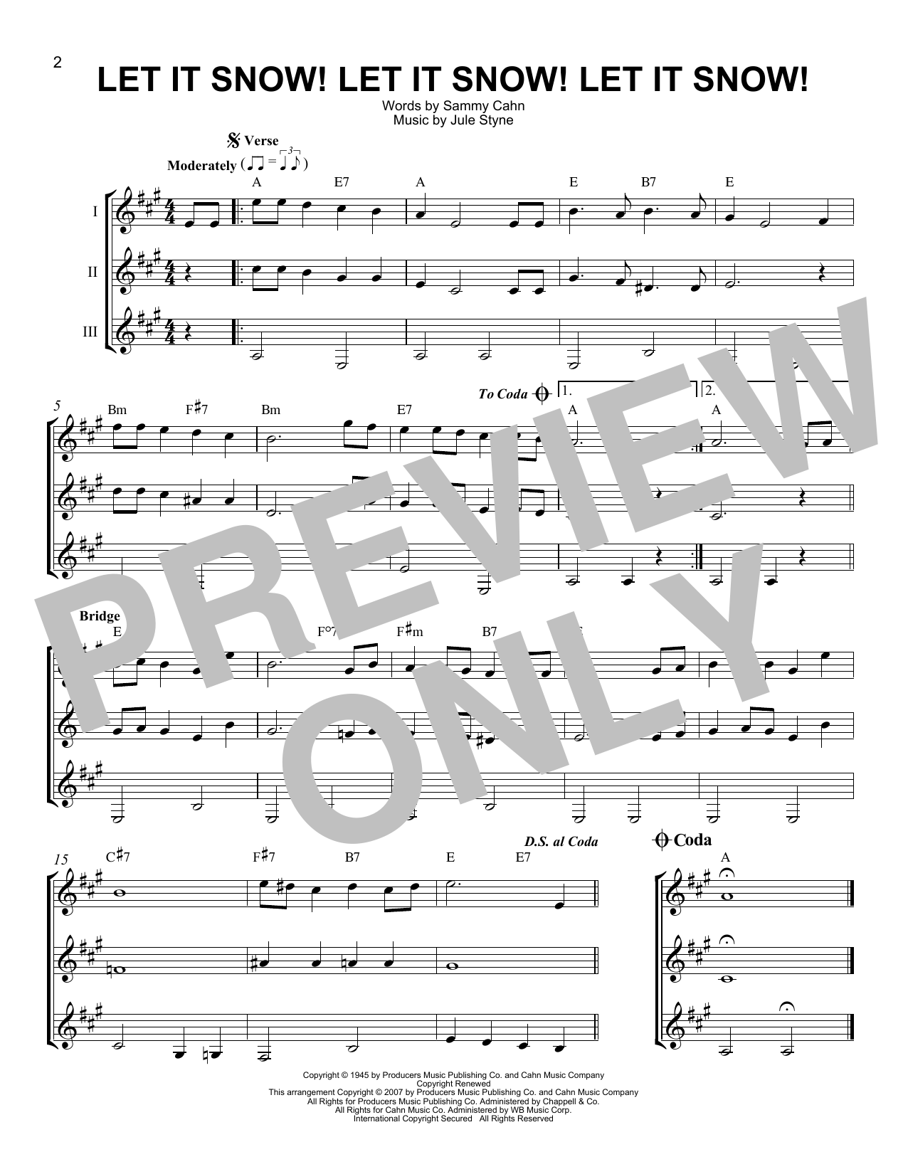 Let It Snow! Let It Snow! Let It Snow! (Guitar Ensemble)