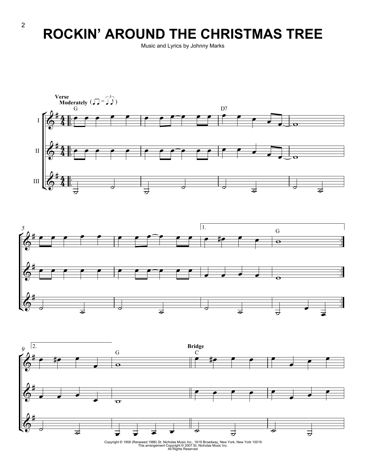 Rockin' Around The Christmas Tree Sheet Music