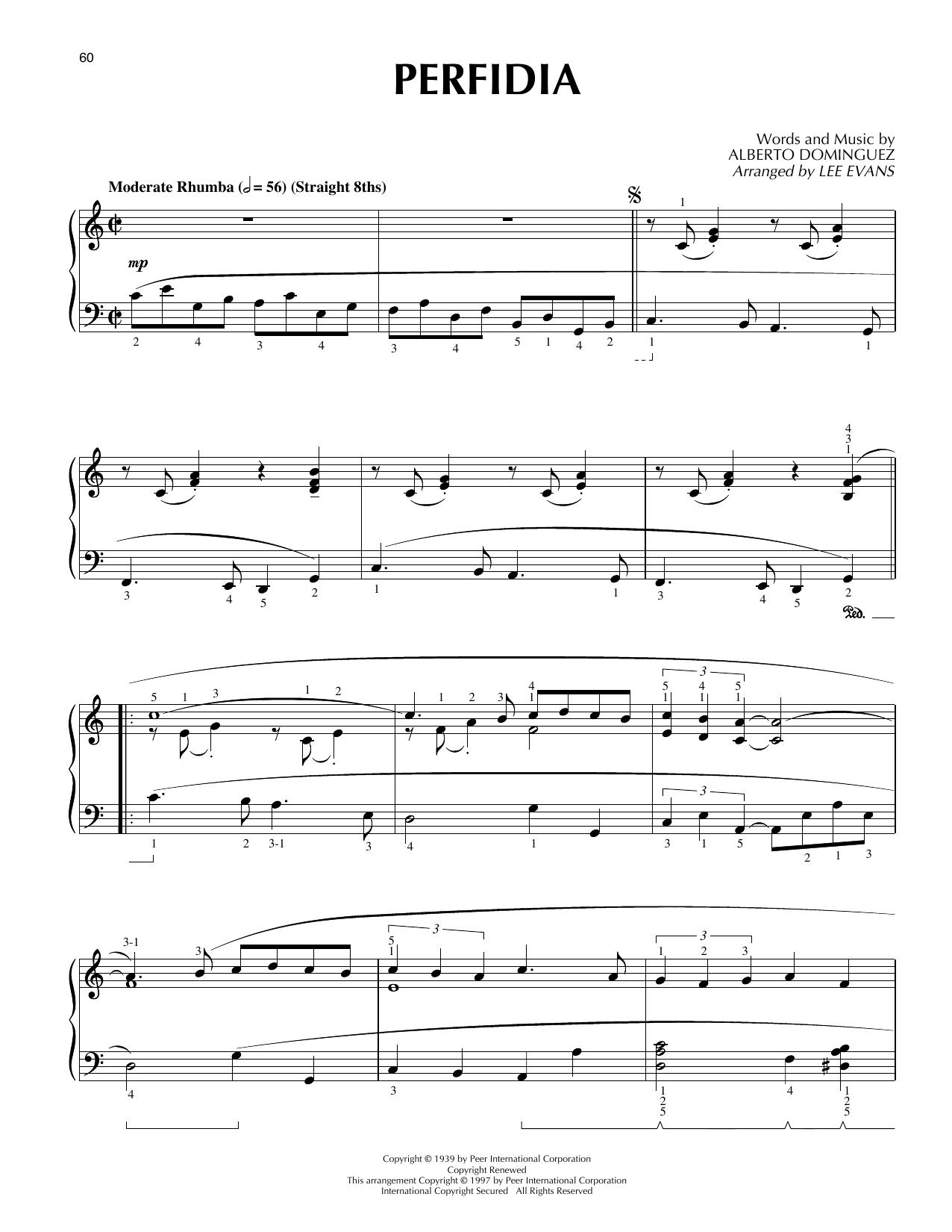 Perfidia (arr. Lee Evans) (Piano Solo)