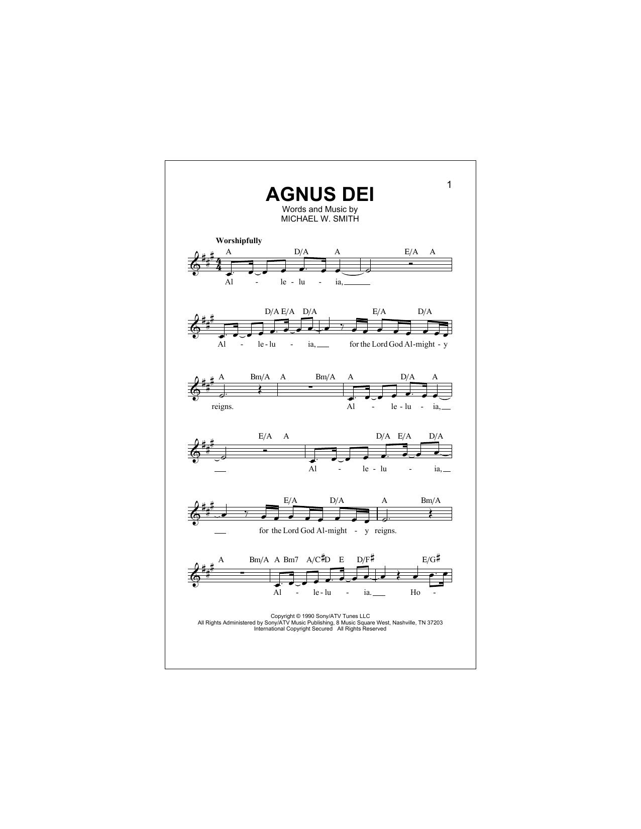 Agnus Dei (Lead Sheet / Fake Book)