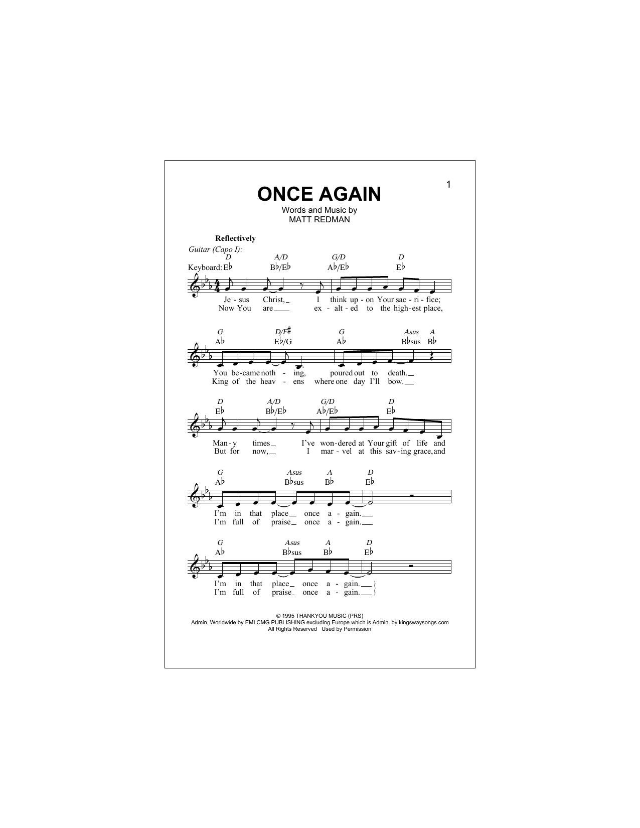 Once Again Sheet Music