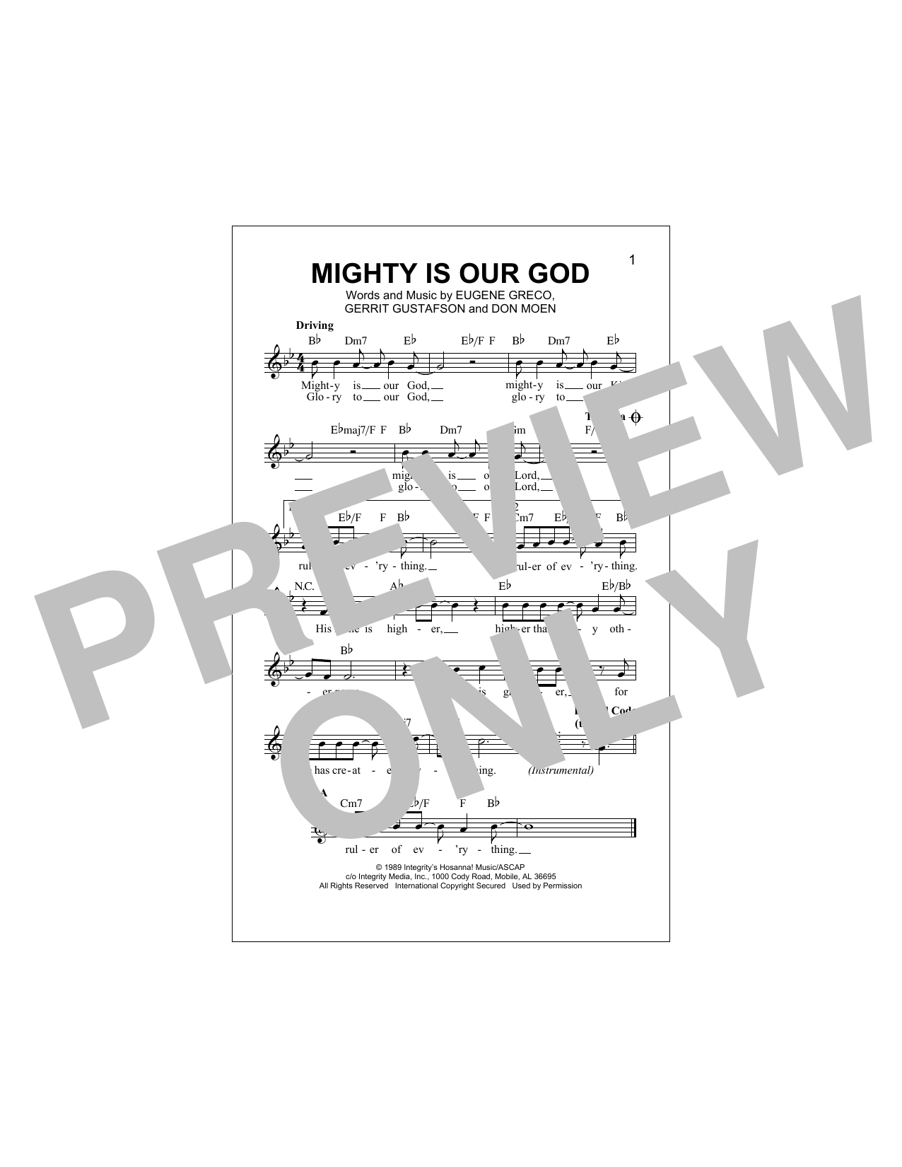 Mighty Is Our God Sheet Music