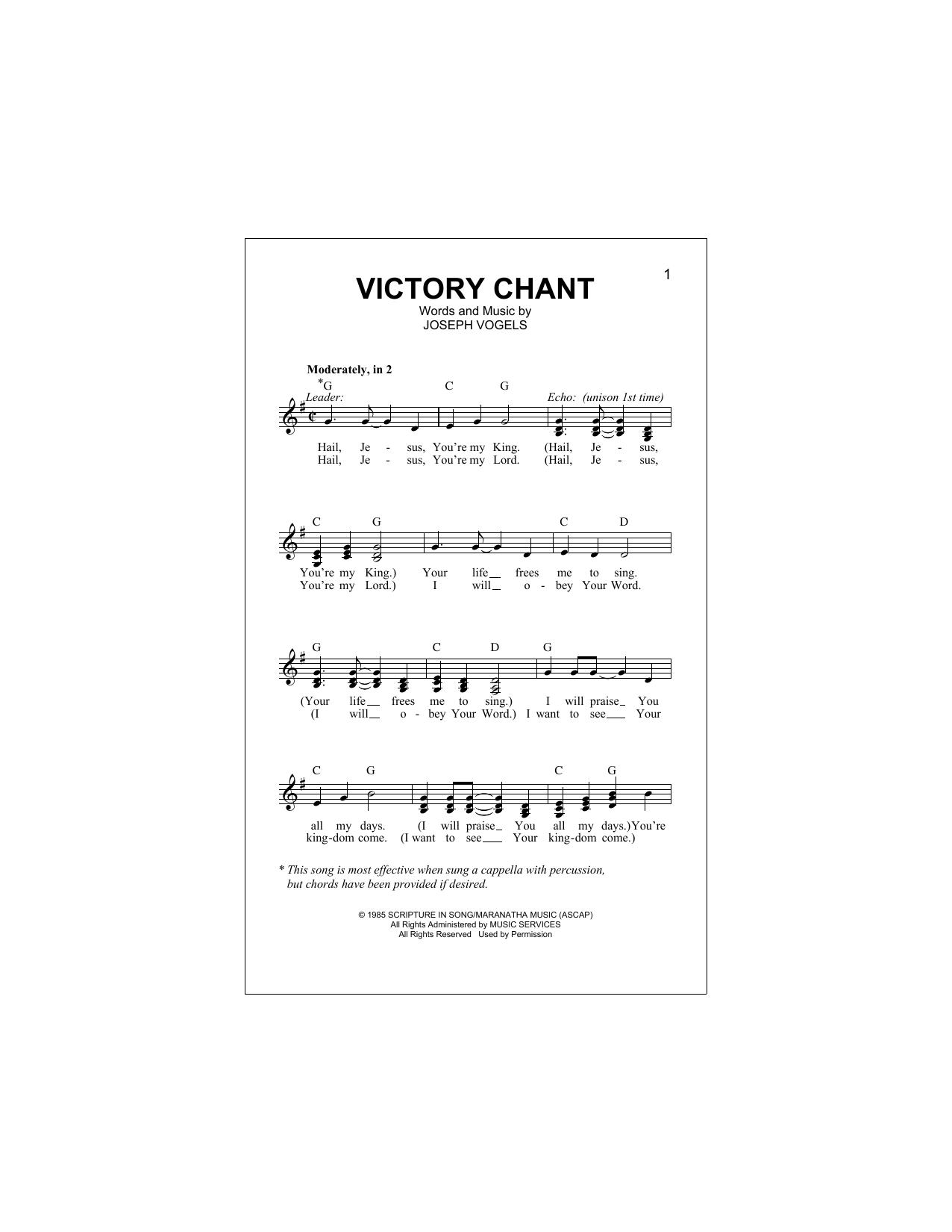 Victory Chant Sheet Music