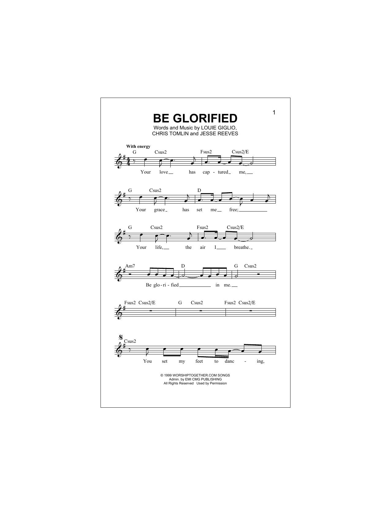 Be Glorified Sheet Music