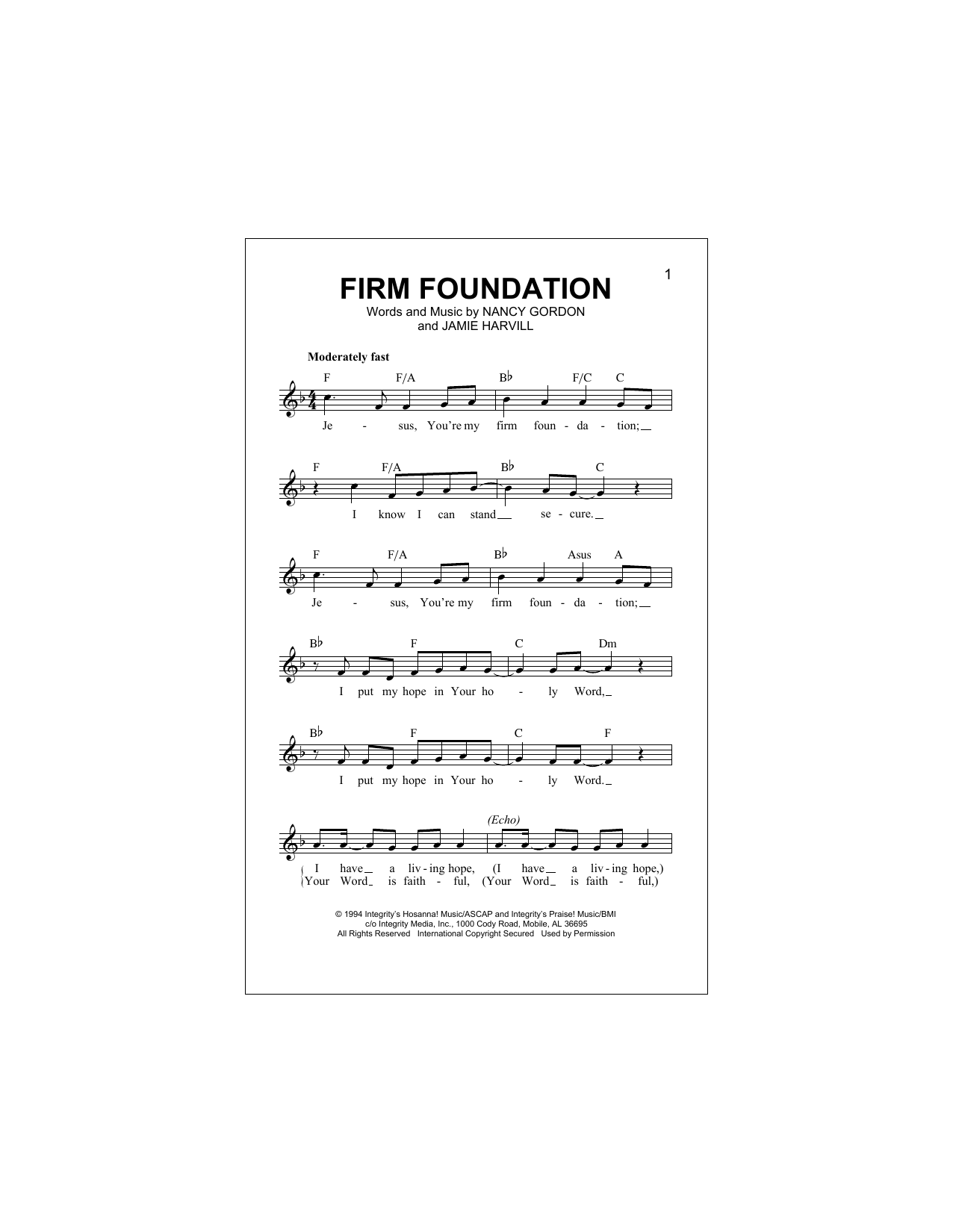 Firm Foundation Sheet Music