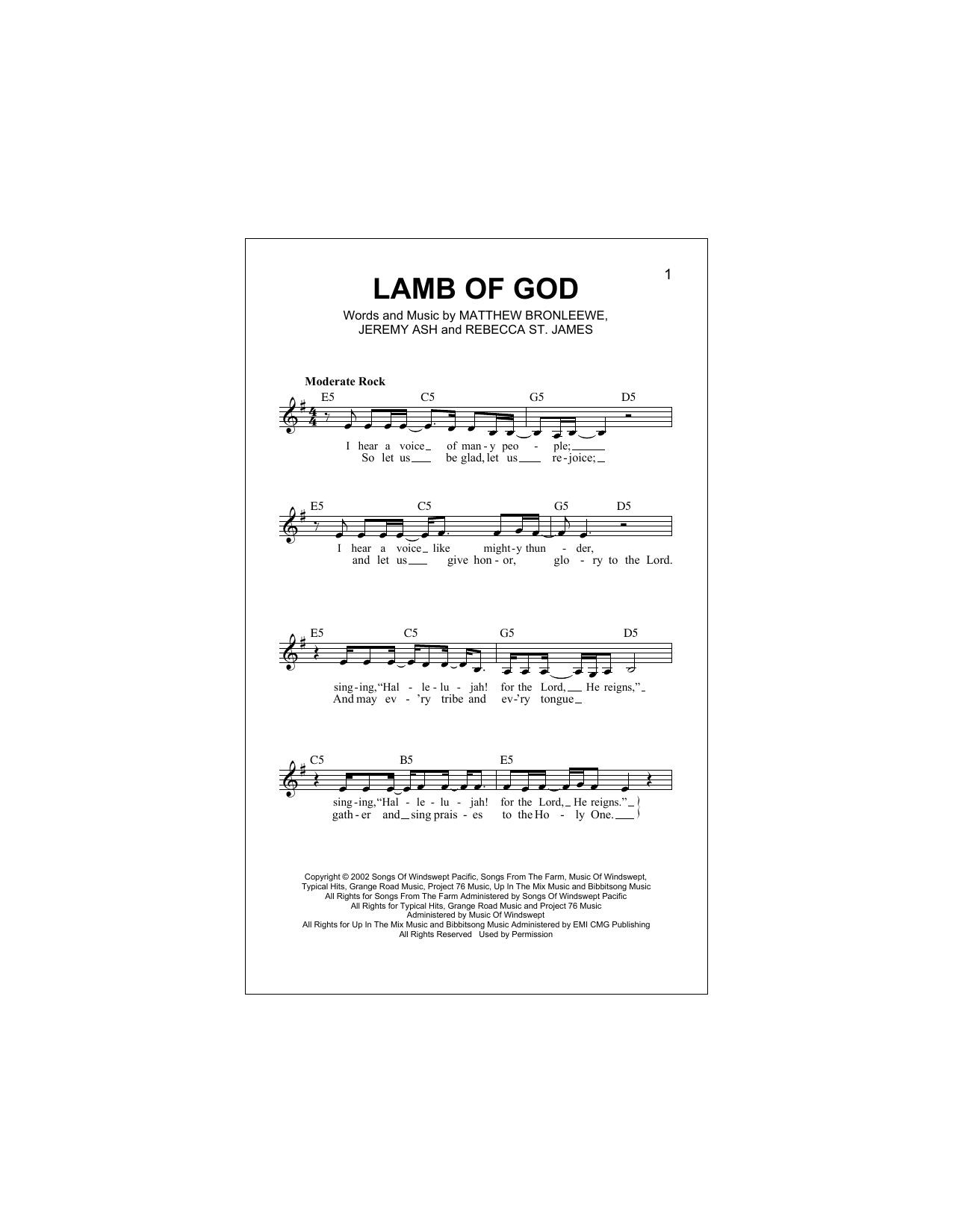 Lamb Of God Sheet Music