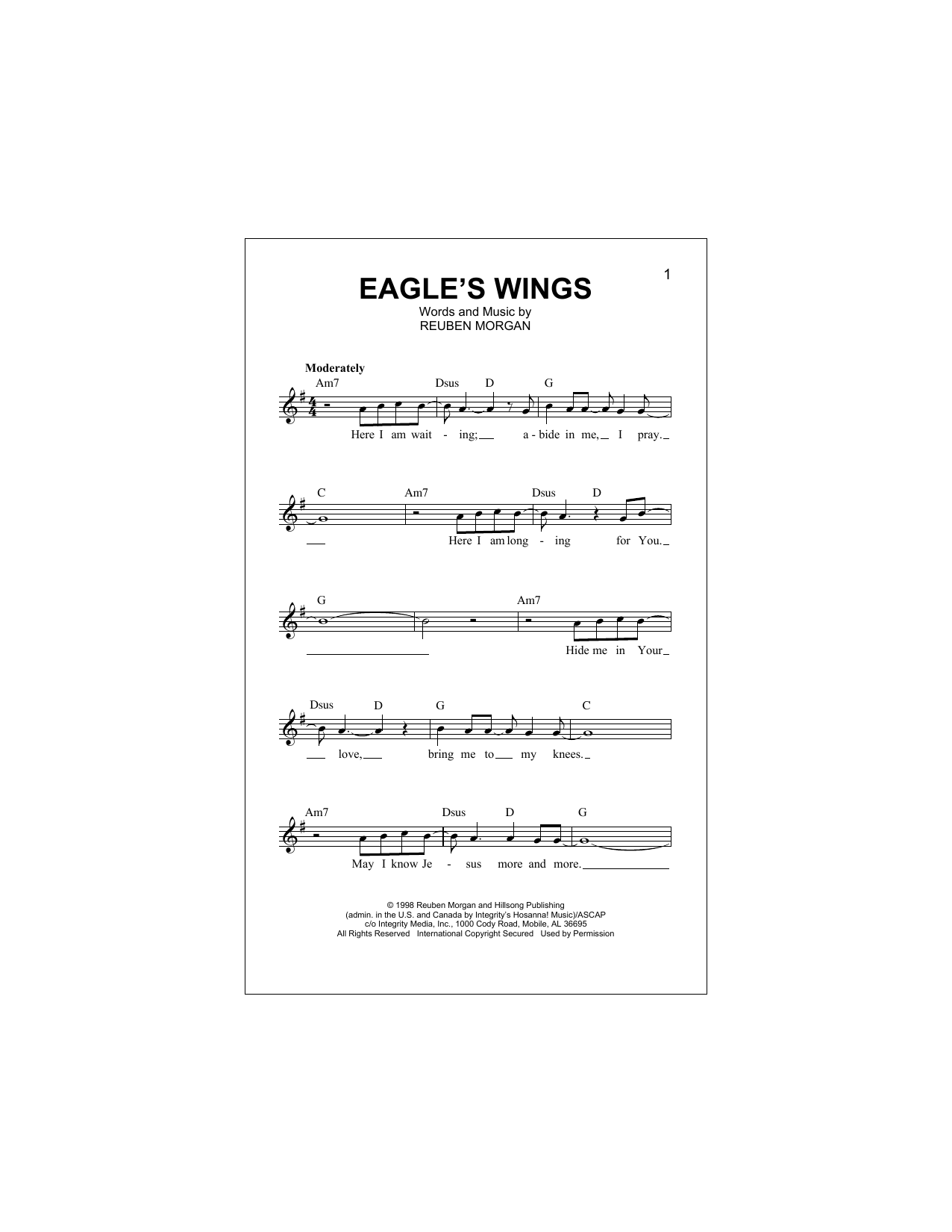 Eagle's Wings Sheet Music