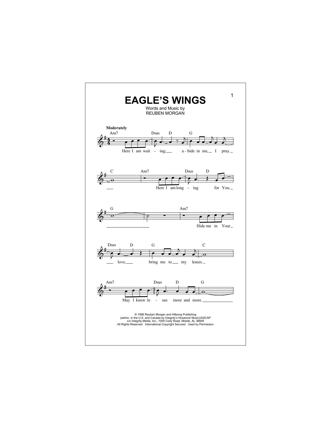 Sheet Music Digital Files To Print - Licensed Reuben Morgan
