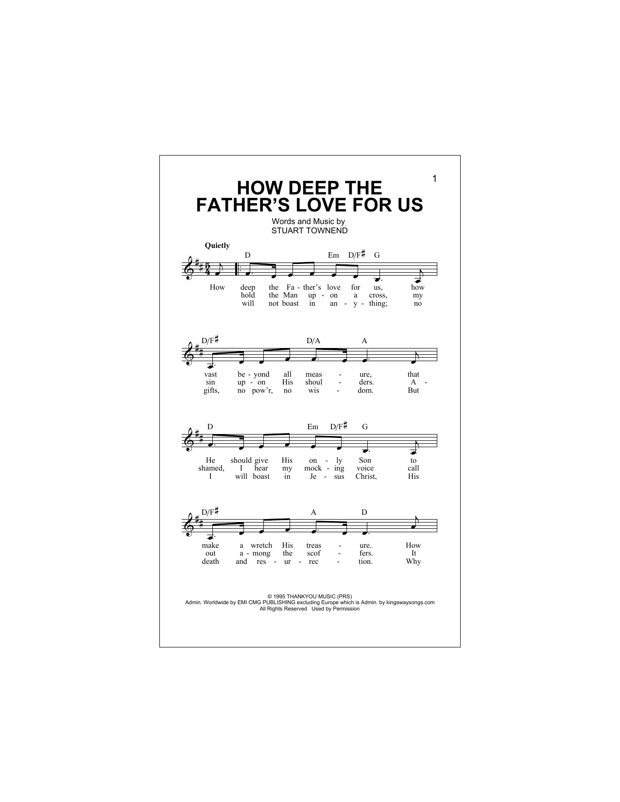 How Deep The Father's Love For Us Sheet Music