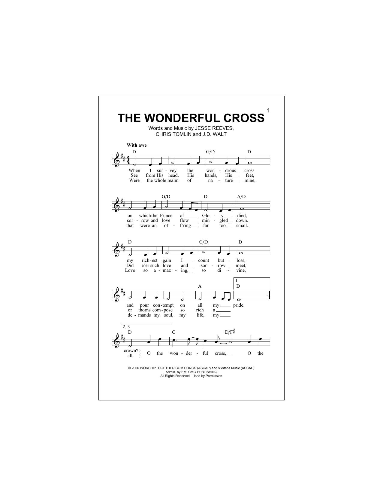 The Wonderful Cross Sheet Music