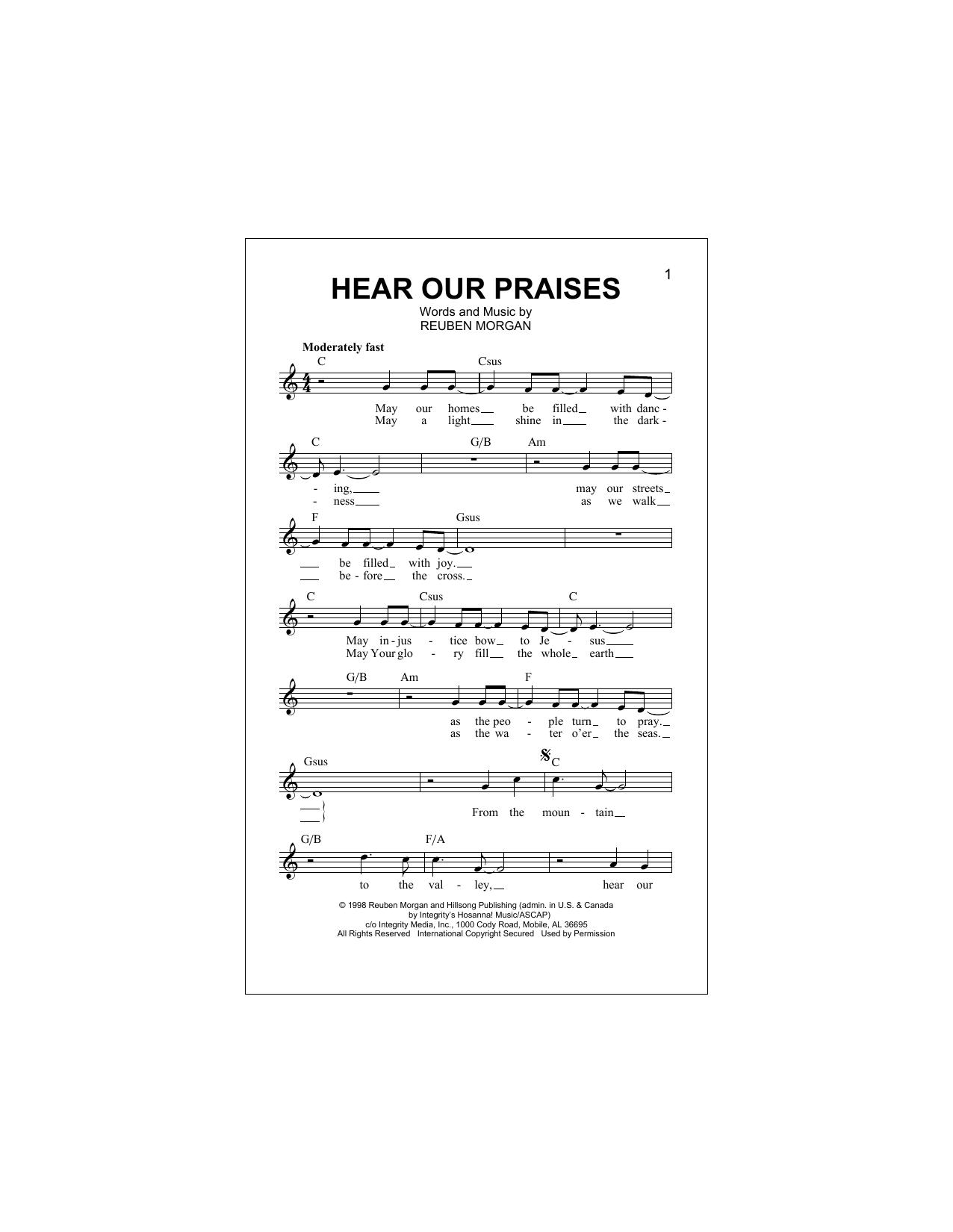 Hear Our Praises (Lead Sheet / Fake Book)