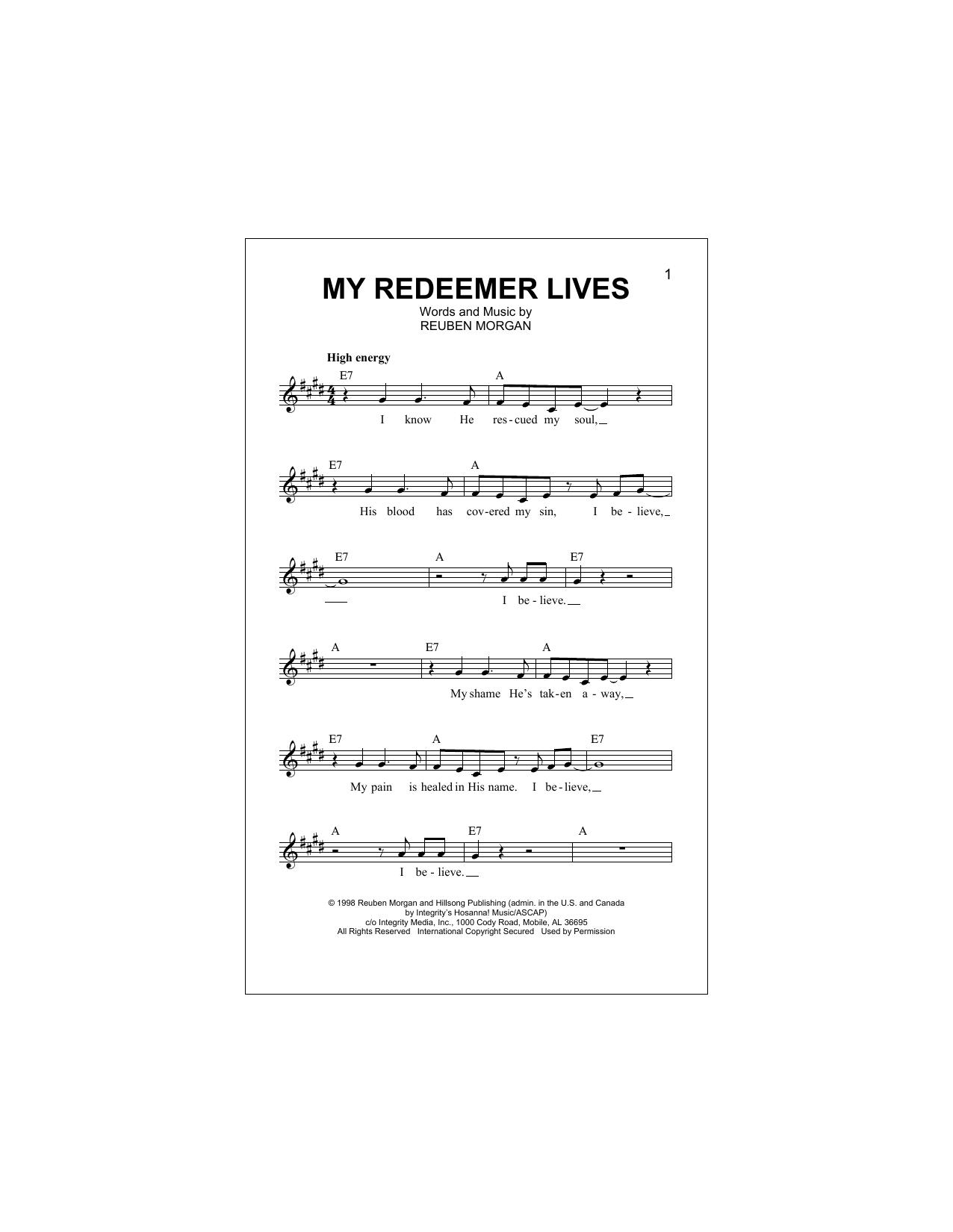 My Redeemer Lives Sheet Music