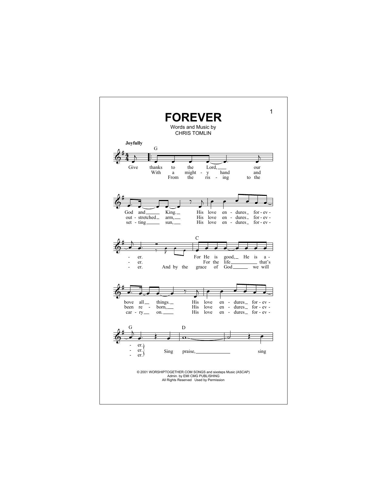 Forever Sheet Music