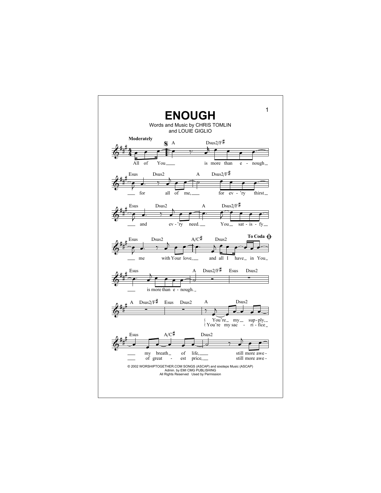 Enough Sheet Music