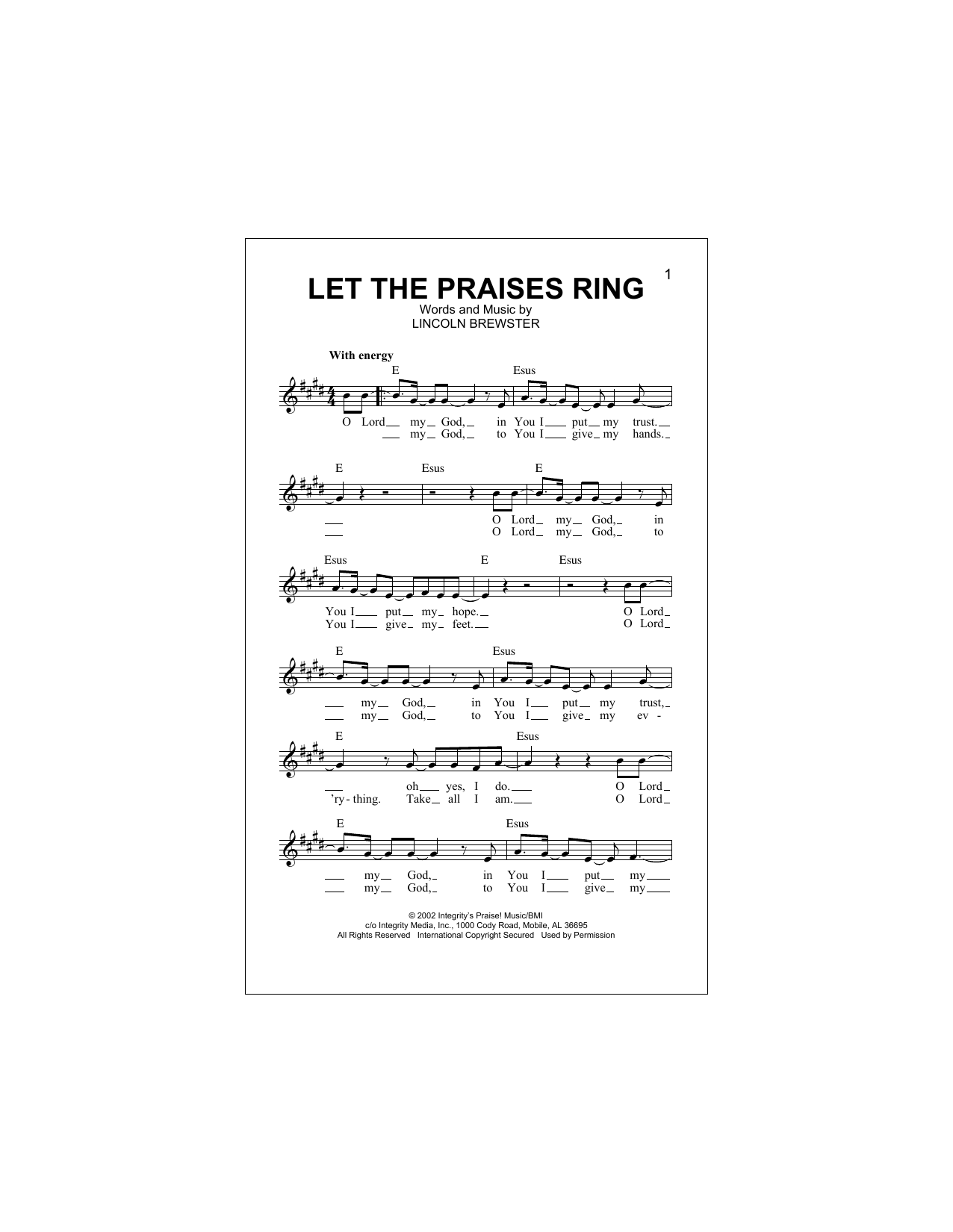Let The Praises Ring Sheet Music