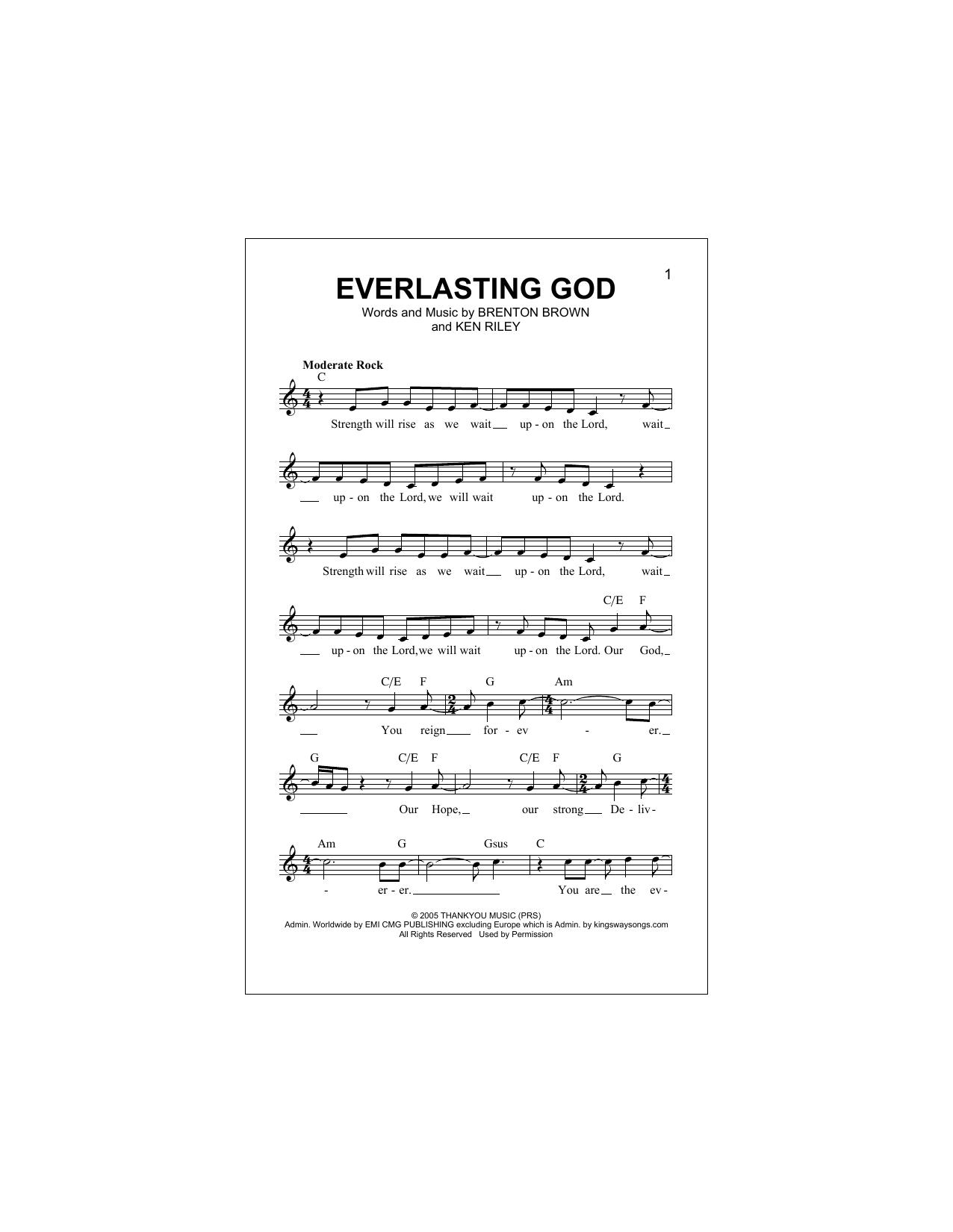 Everlasting God Sheet Music