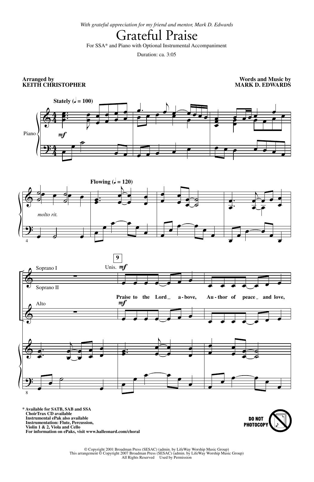 Grateful Praise (SSA Choir)