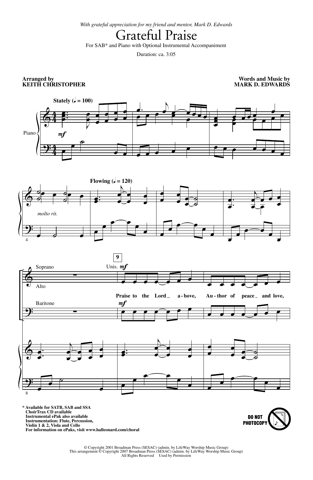 Grateful Praise Sheet Music