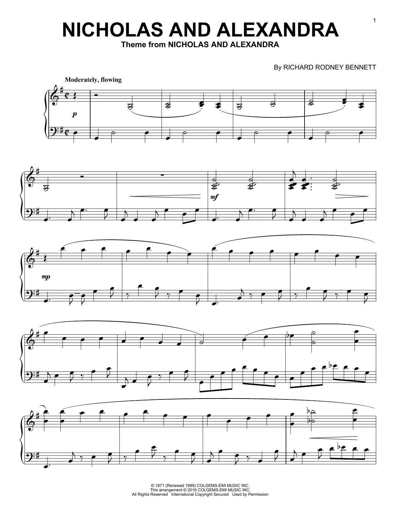 Nicholas And Alexandra (Piano Solo)