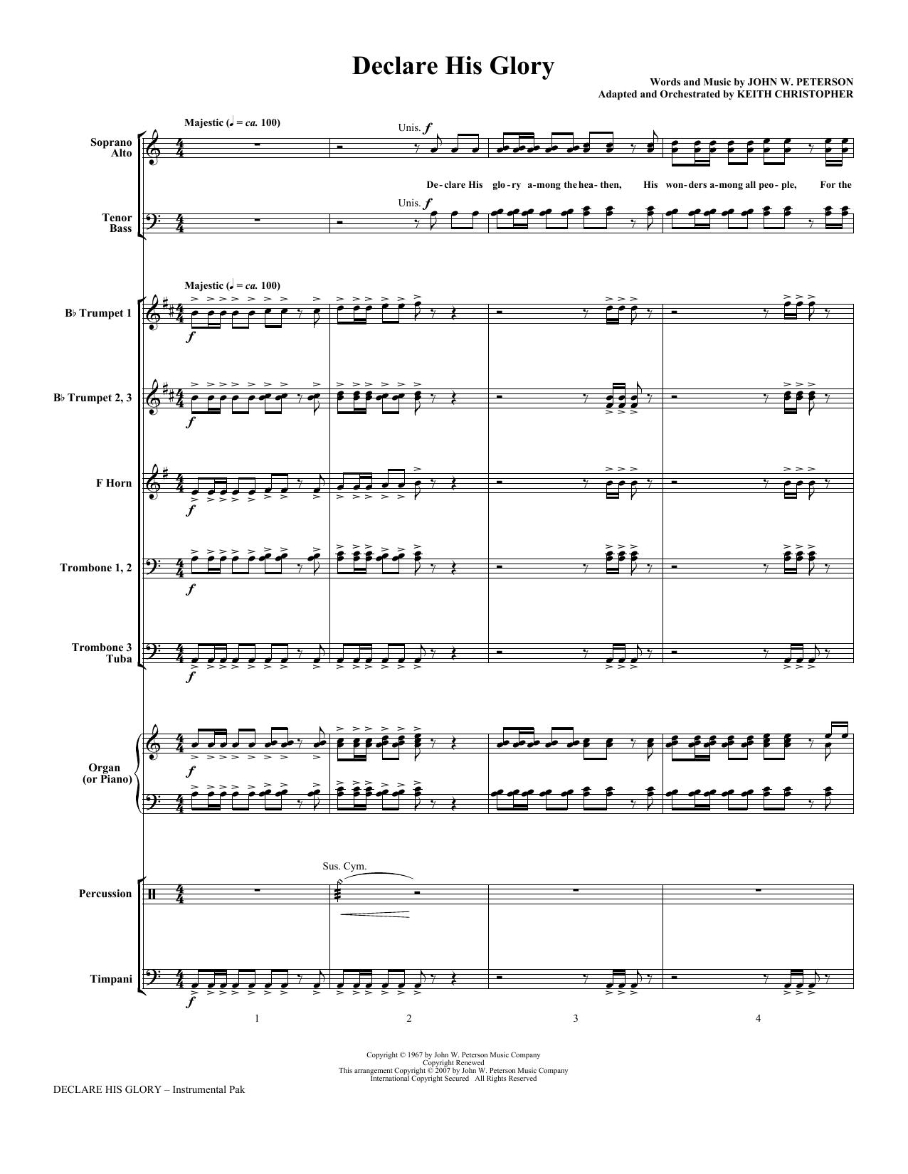 Declare His Glory - Full Score Sheet Music