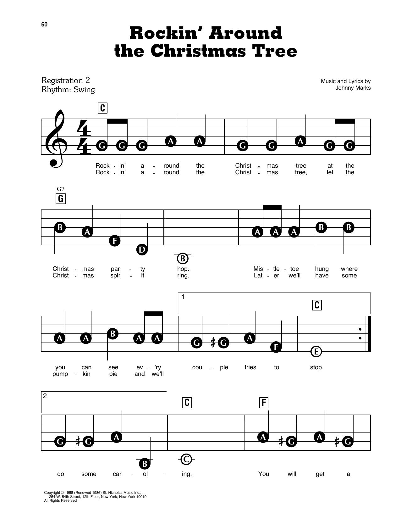 Rockin' Around The Christmas Tree Sheet Music   Johnny Marks   E-Z Play Today