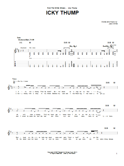 Icky Thump (Guitar Tab)
