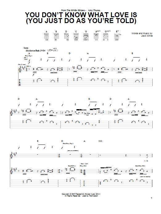 You Don't Know What Love Is (You Just Do As You're Told) (Guitar Tab)