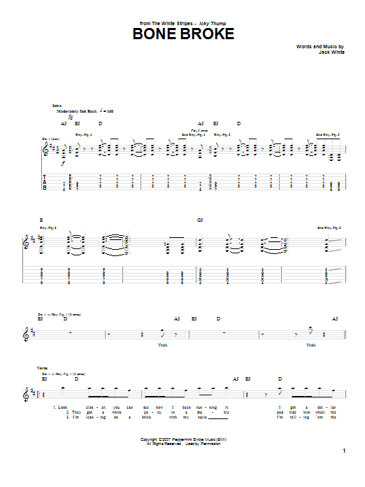Bone Broke (Guitar Tab)