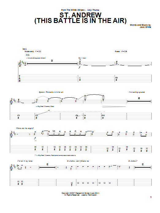 St. Andrew (This Battle Is In The Air) (Guitar Tab)