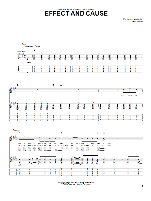 Effect And Cause (Guitar Tab)