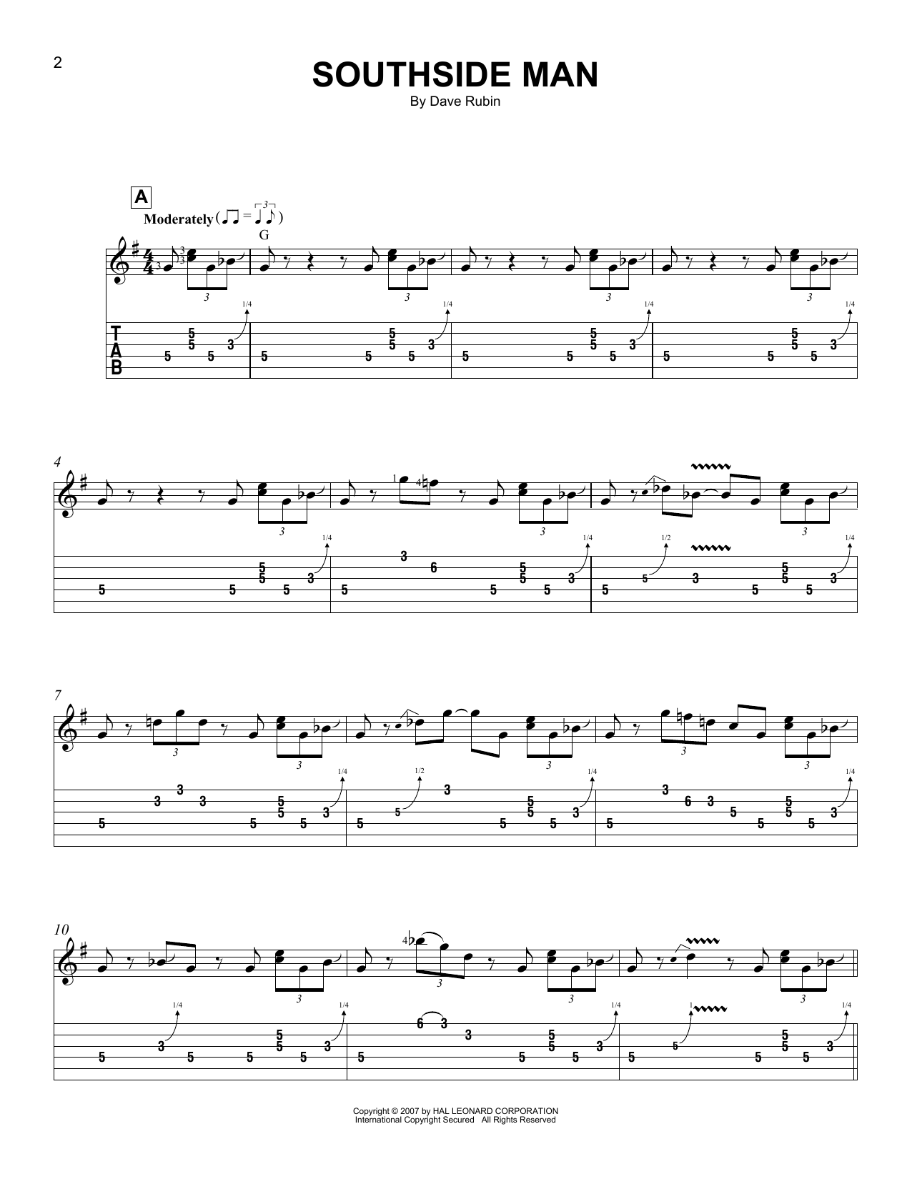 Southside Man Sheet Music