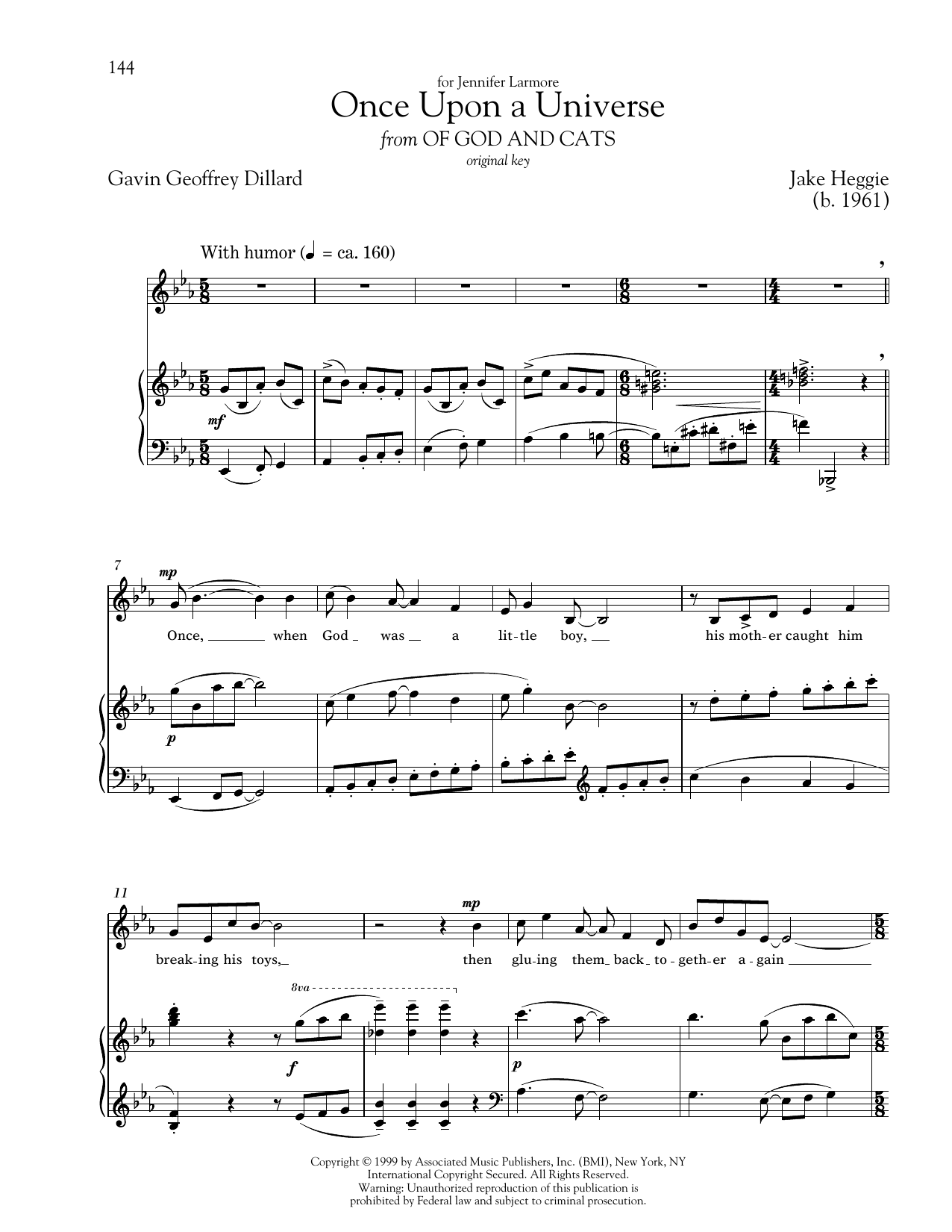 Once Upon A Universe Sheet Music