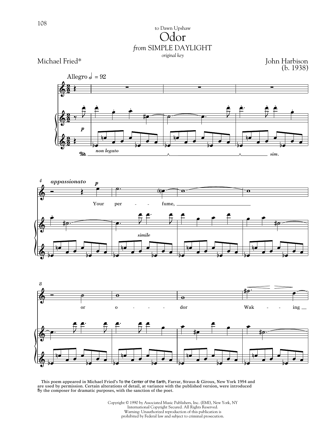 Odor Sheet Music