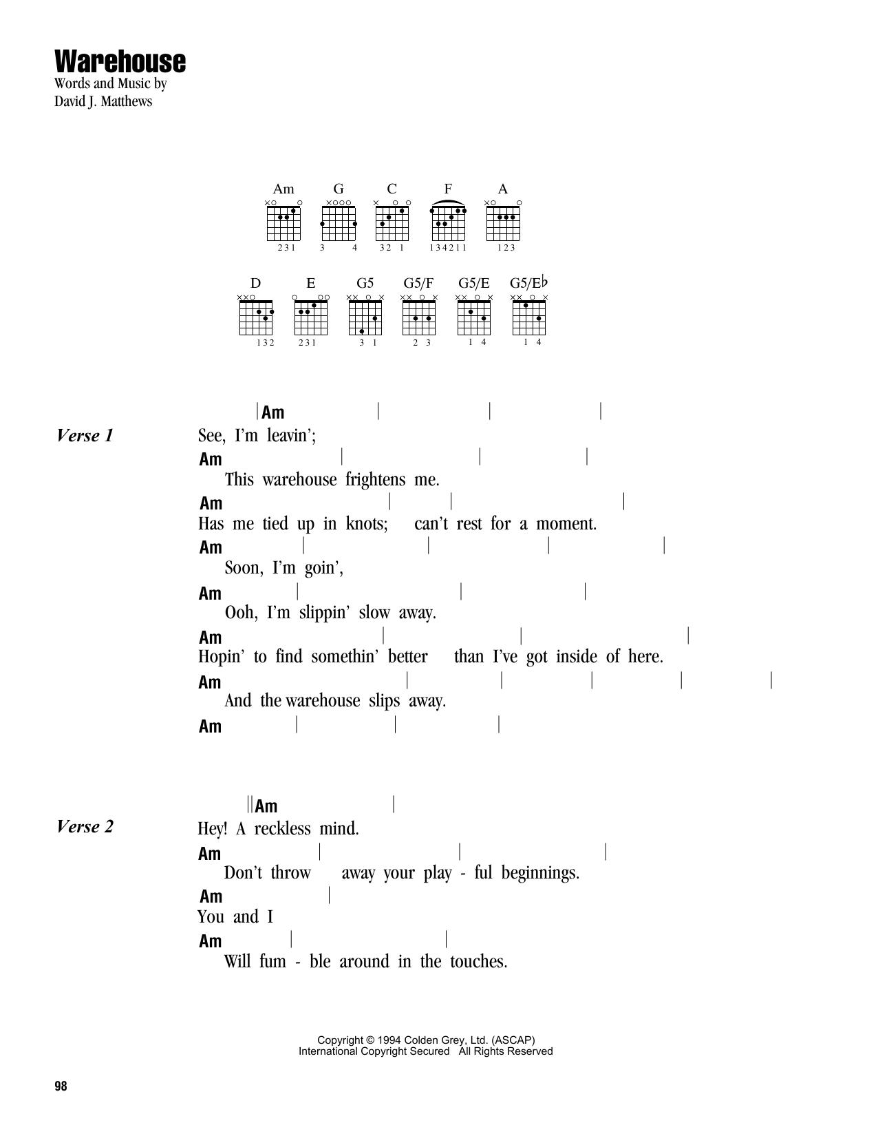 Warehouse (Lyrics & Chords)