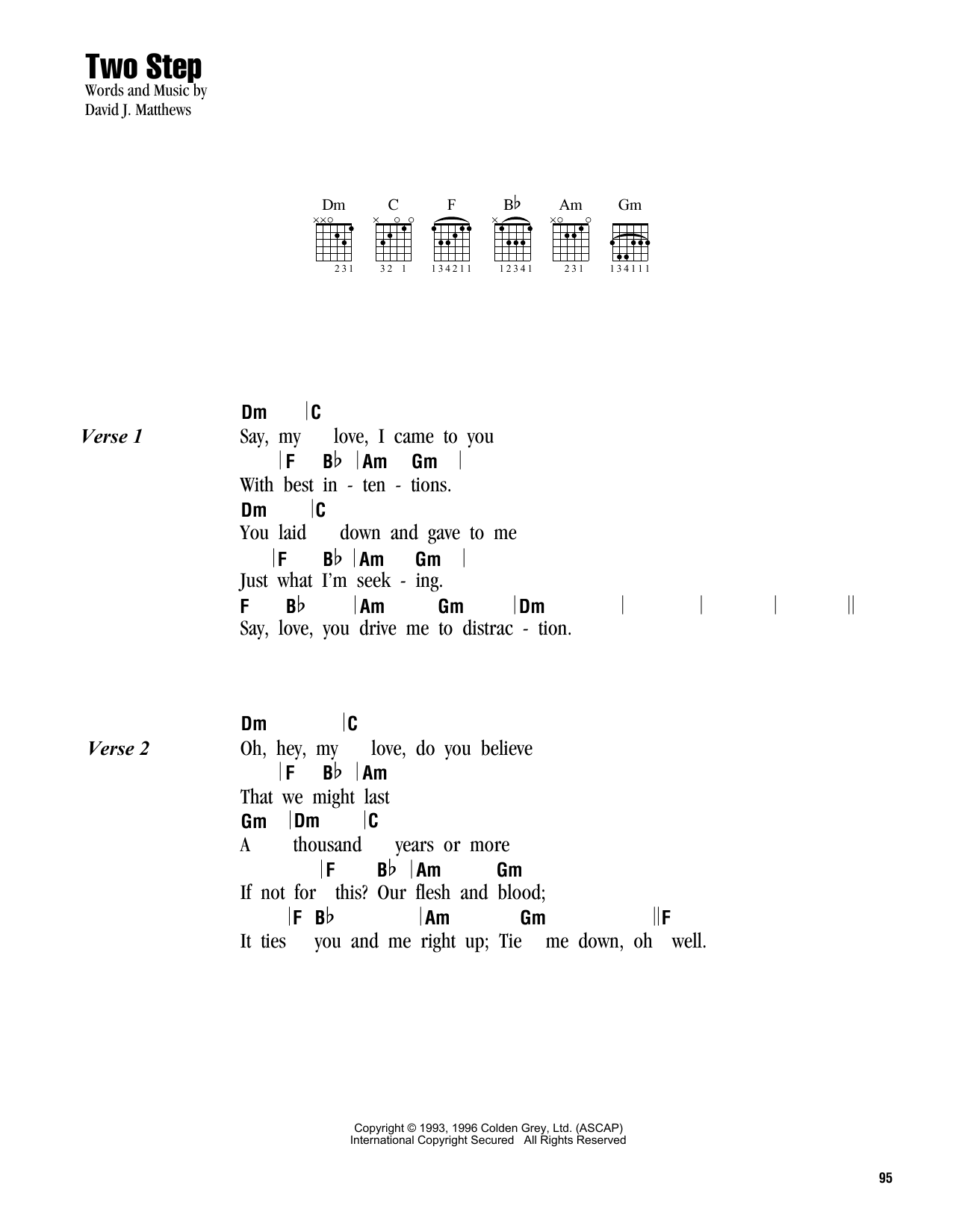 Two Step Sheet Music