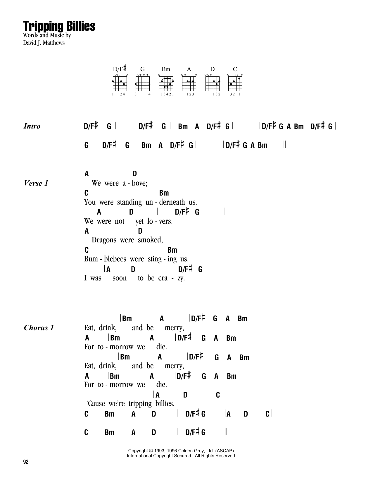 Tripping Billies Sheet Music