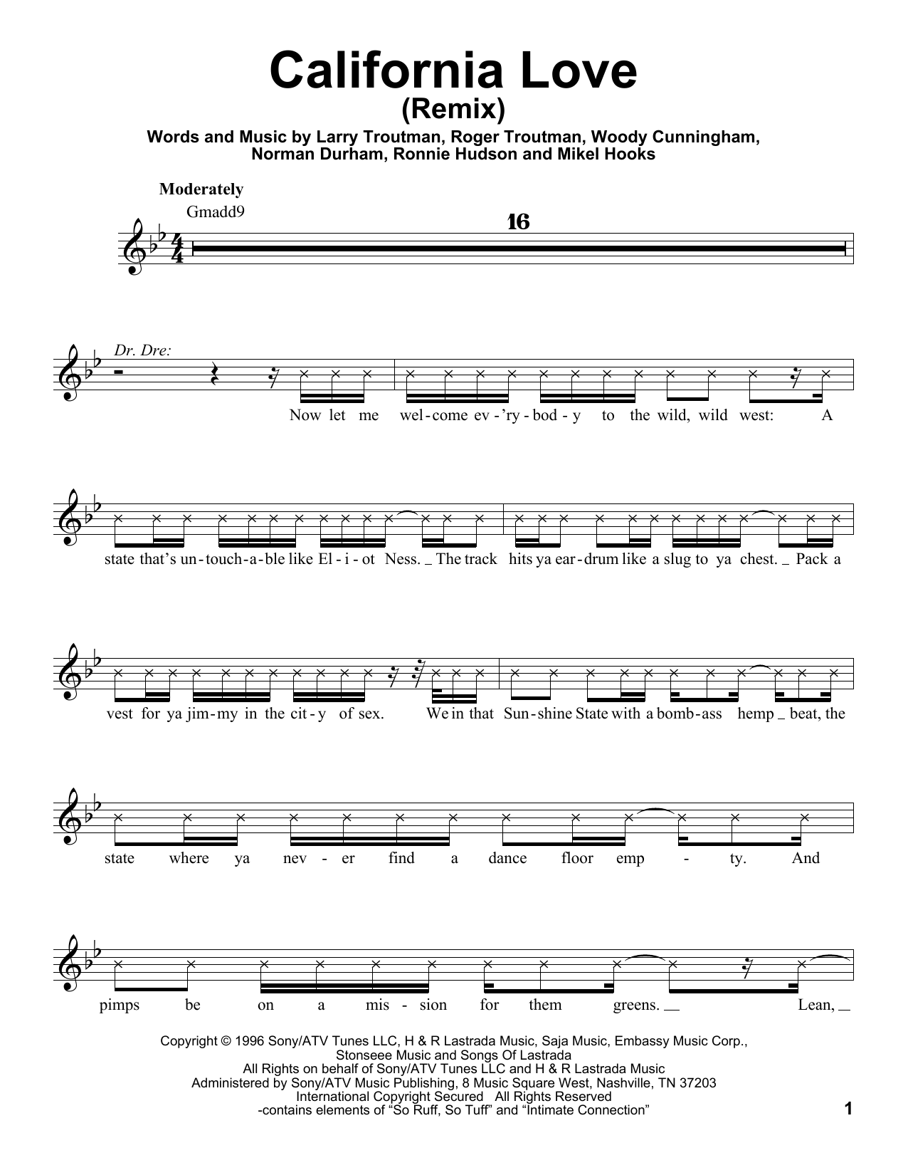 California Love (Remix) Sheet Music