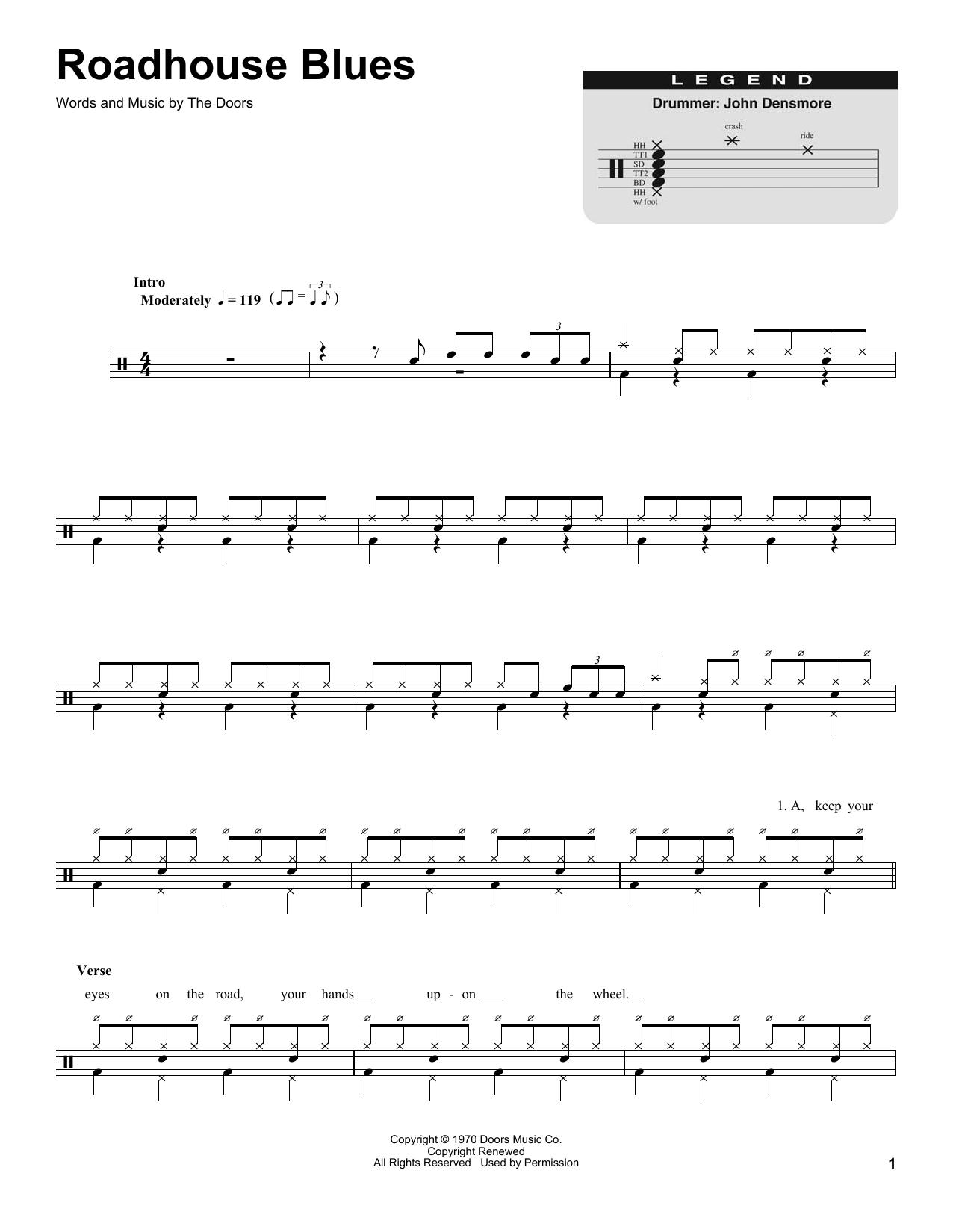 Roadhouse Blues (Drums Transcription)