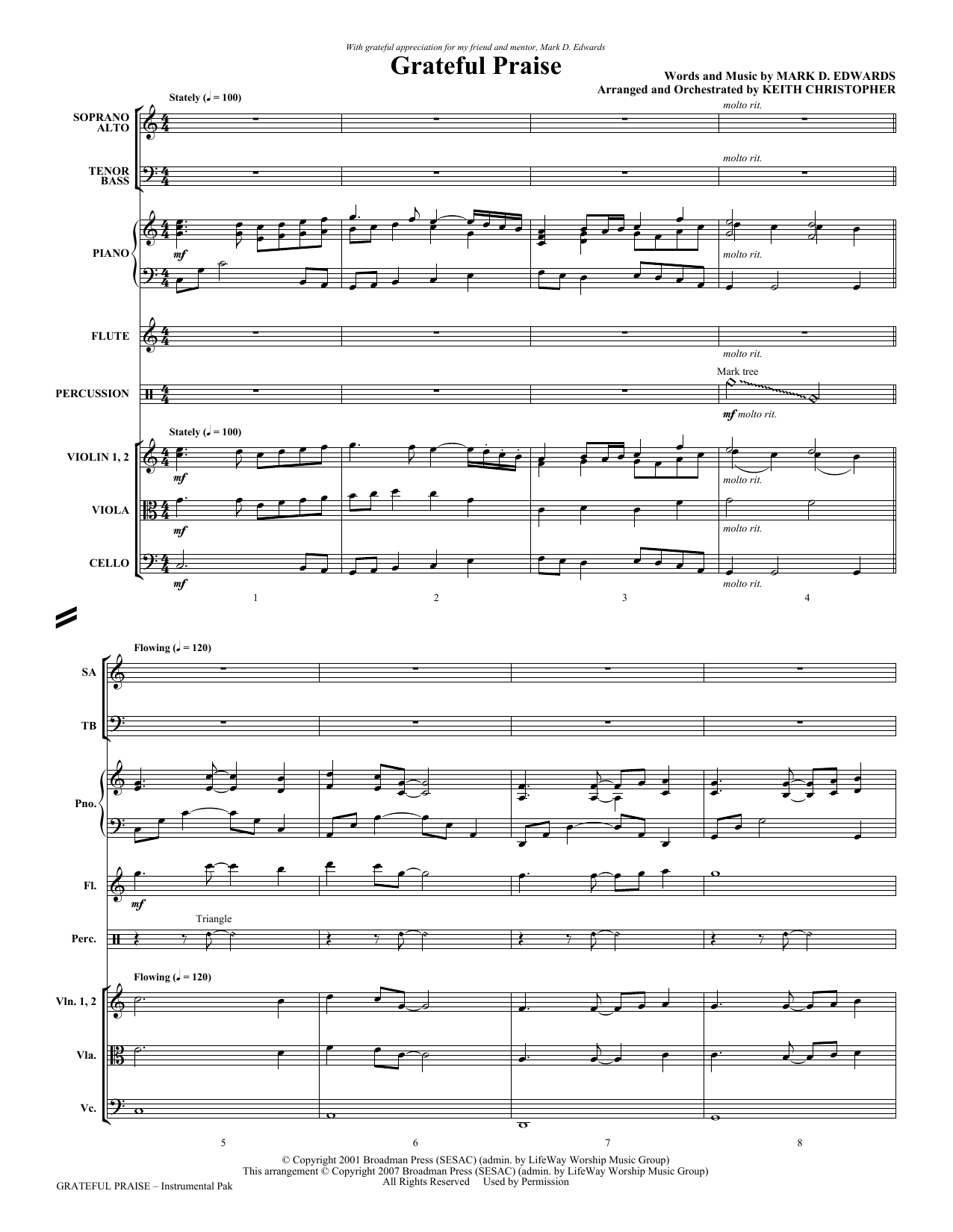 Grateful Praise - Full Score Sheet Music