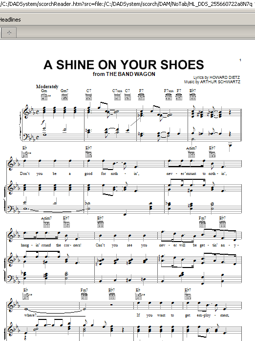 A Shine On Your Shoes (Piano, Vocal & Guitar (Right-Hand Melody))