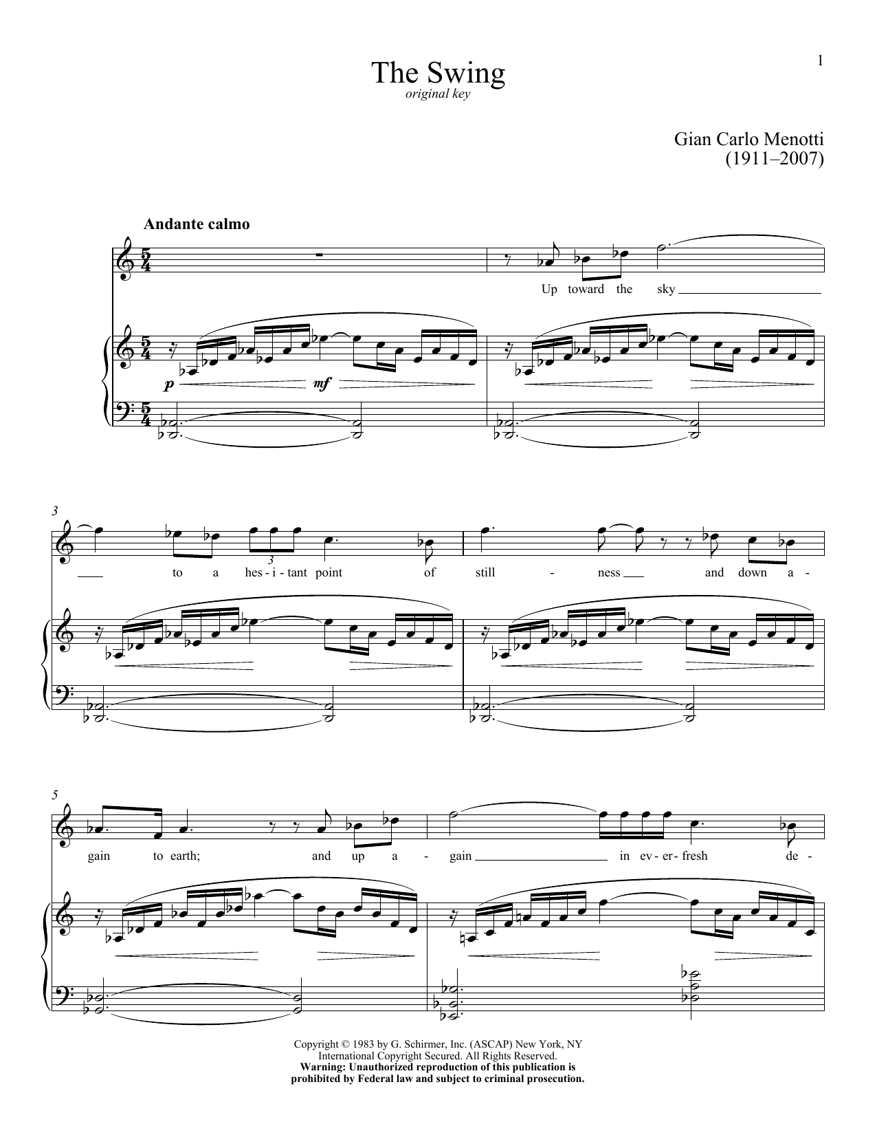 The Swing Sheet Music