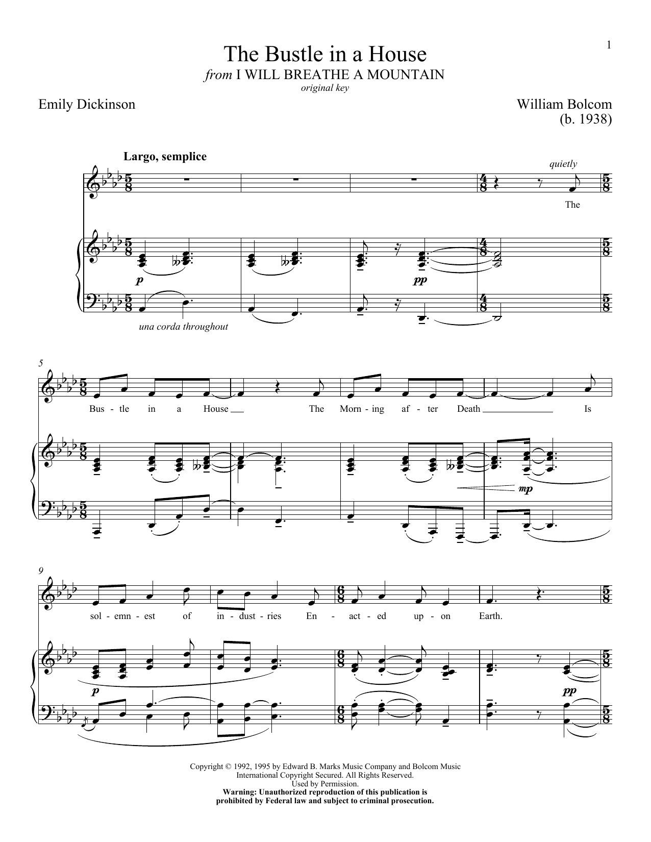 The Bustle In A House Sheet Music