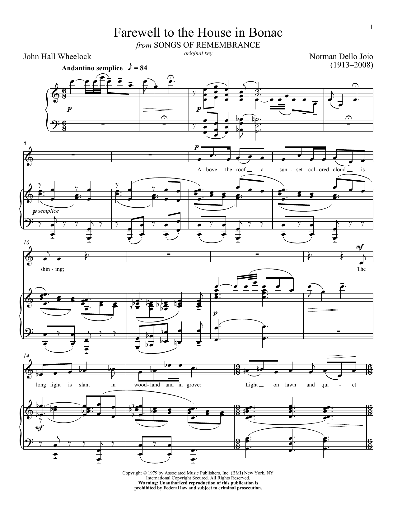 Farewell To The House In Bonac Sheet Music
