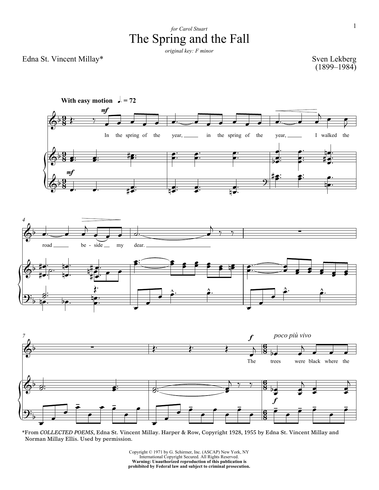 The Spring And The Fall Sheet Music
