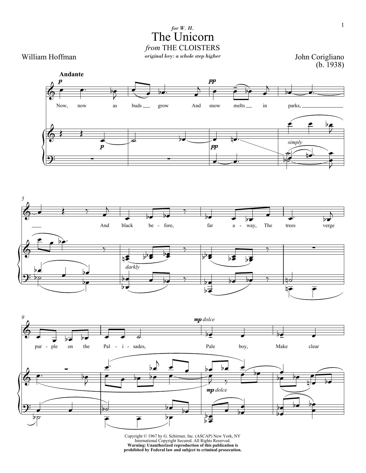 The Unicorn (Piano & Vocal)