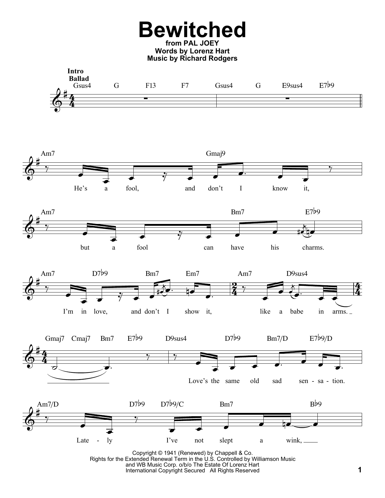 Bewitched Sheet Music