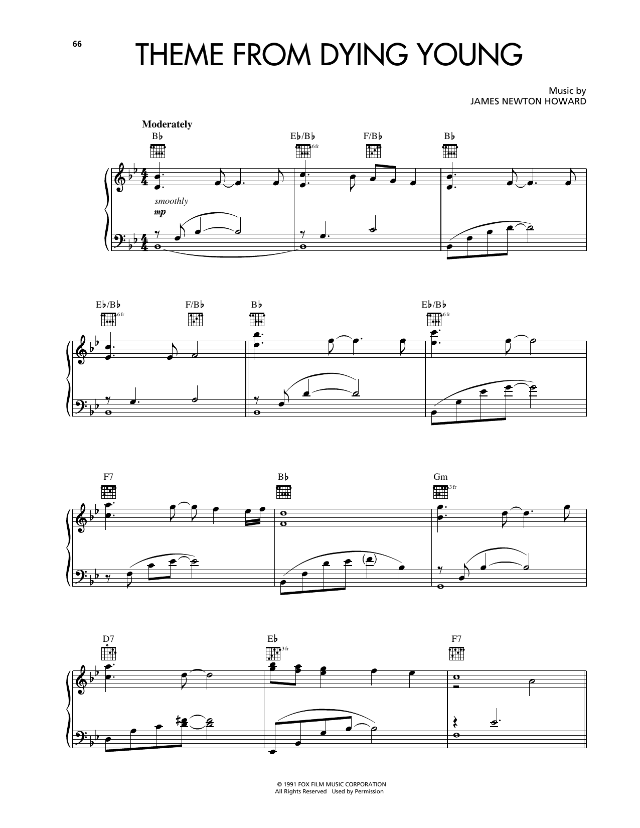 Theme From Dying Young (Piano Solo)